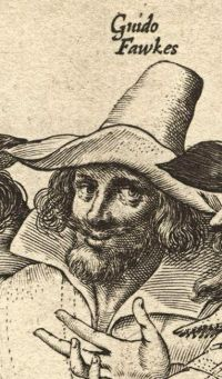 Guy Fawkes - Contemporary Engraving by Crispijn van de Passe