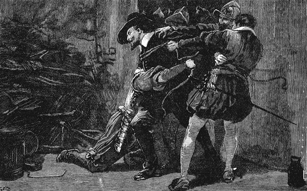 The arrest of Guy Fawkes (by Unknown)