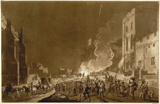 Bonfire Night at Windsor Castle in 1776