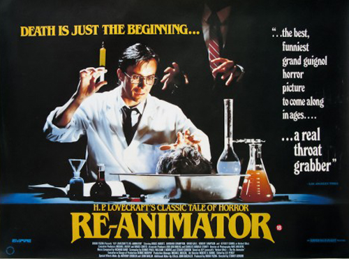 UK movie poster for Re-Animator (1985)