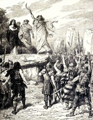 Druids Inciting the Britons to Oppose the Landing of the Romans – from Cassell's History of England, Vol. I.